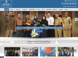 Universitas Diponegoro's Website Screenshot