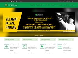 Universitas Siliwangi's Website Screenshot