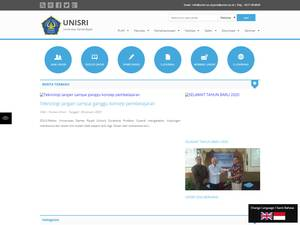 Universitas Slamet Riyadi's Website Screenshot