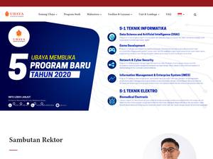 Universitas Surabaya's Website Screenshot