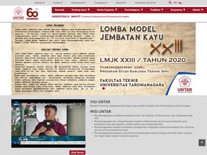 Universitas Tarumanagara's Website Screenshot