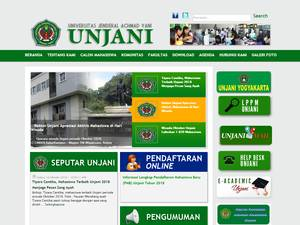 Universitas Jenderal Achmad Yani Screenshot