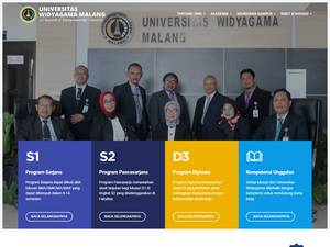 Universitas Widya Gama's Website Screenshot