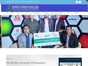The People's University of Bangladesh's Website Screenshot