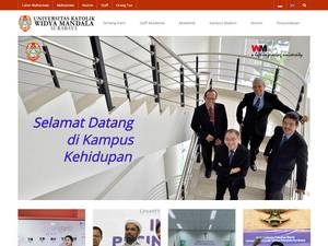 Universitas Katolik Widya Mandala Surabaya Screenshot