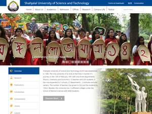Shahjalal University of Science and Technology's Website Screenshot