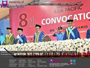 University of Asia Pacific's Website Screenshot