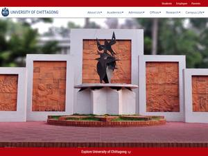 University of Chittagong's Website Screenshot
