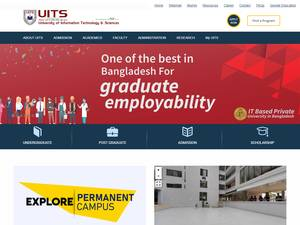 University of Information Technology and Sciences's Website Screenshot