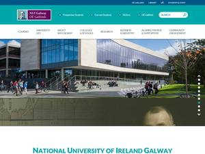 National University of Ireland, Galway's Website Screenshot