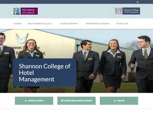 Shannon College of Hotel Management's Website Screenshot