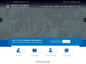 World University of Bangladesh's Website Screenshot
