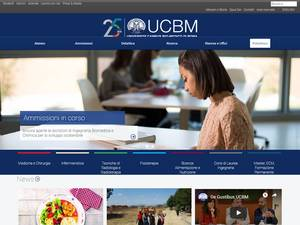 Università Campus Bio-Medico di Roma's Website Screenshot
