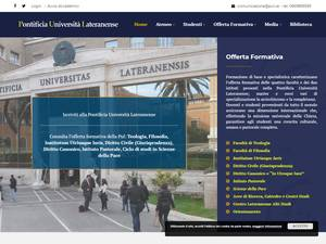 Pontificia Università Lateranense's Website Screenshot