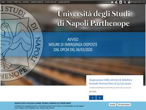 Università degli Studi di Napoli Parthenope's Website Screenshot