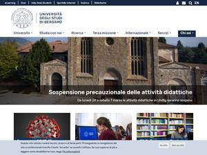 Università degli Studi di Bergamo's Website Screenshot