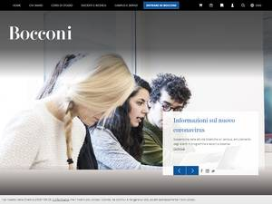 Università Commerciale Luigi Bocconi's Website Screenshot