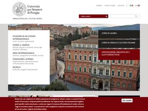 Università per Stranieri di Perugia's Website Screenshot
