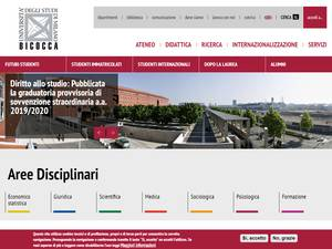 University of Milano-Bicocca Screenshot