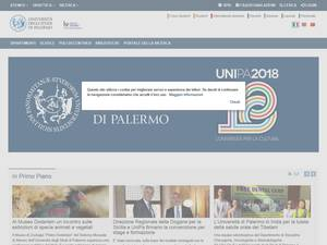 Università degli Studi di Palermo's Website Screenshot