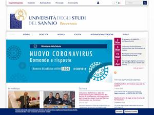 Università degli Studi del Sannio's Website Screenshot