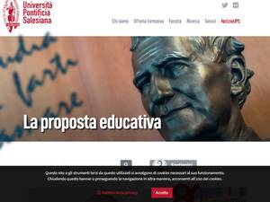 Università Pontificia Salesiana Screenshot