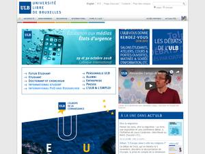 Université Libre de Bruxelles's Website Screenshot