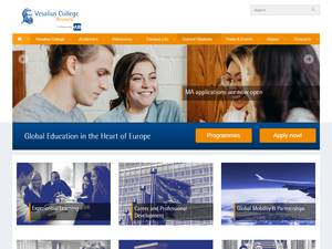 Vesalius College's Website Screenshot