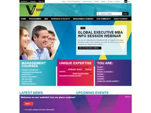 Vlerick Business School's Website Screenshot