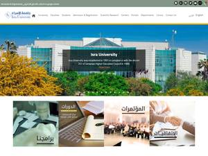 Isra University's Website Screenshot