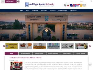 Al-Ahliyya Amman University's Website Screenshot