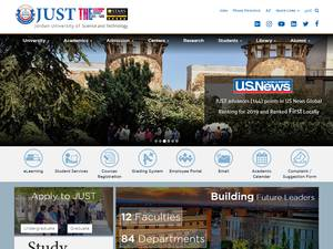 Jordan University of Science and Technology's Website Screenshot