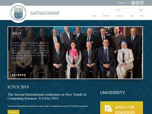 Princess Sumaya University for Technology's Website Screenshot