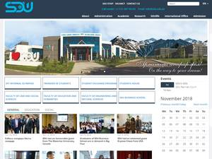 Suleyman Demirel University's Website Screenshot