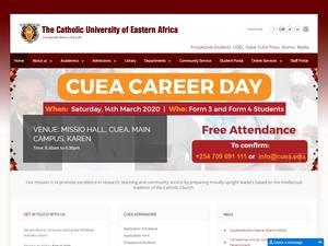 The Catholic University of Eastern Africa's Website Screenshot