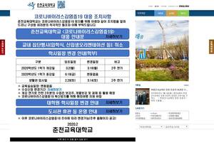 Chuncheon National University of Education's Website Screenshot