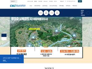Chungnam National University's Website Screenshot
