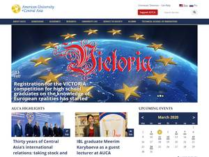 American University of Central Asia's Website Screenshot