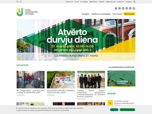 Latvia University of Agriculture Screenshot