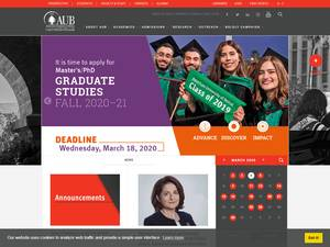 American University of Beirut's Website Screenshot