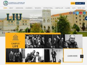 Lebanese International University's Website Screenshot