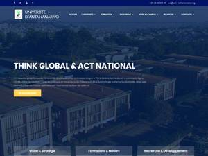 Université d'Antananarivo's Website Screenshot