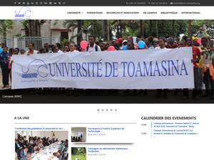 Université de Toamasina's Website Screenshot