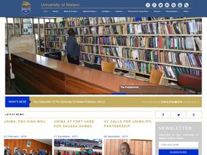 University of Malawi's Website Screenshot