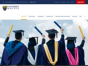 Universiti Malaya's Website Screenshot