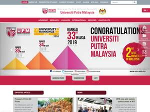 Universiti Putra Malaysia's Website Screenshot