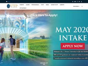 Universiti Teknologi Petronas's Website Screenshot