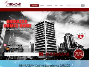 Universiti Tun Abdul Razak's Website Screenshot