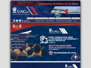 Universidad Autónoma de Guerrero's Website Screenshot