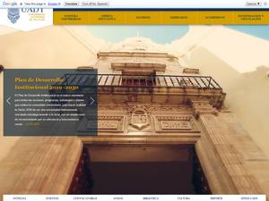 Universidad Autónoma de Yucatán's Website Screenshot